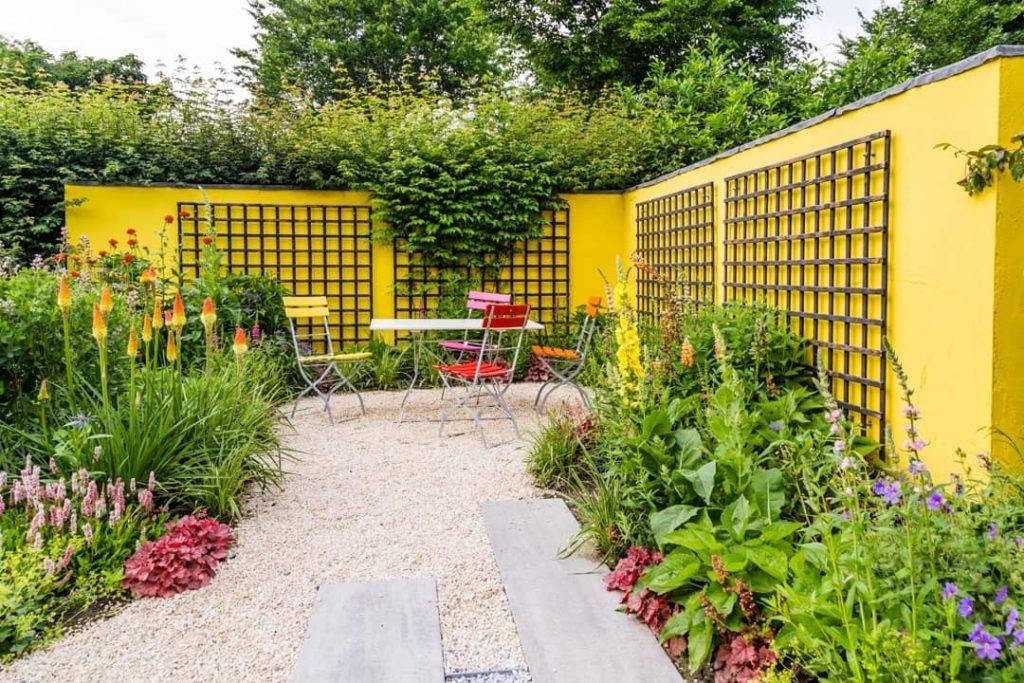 Flower beds in backgarden